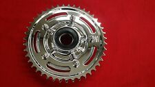 CHROME SPROCKET AND CARRIER W/ BEARINGS CHROME NUTS INSTALLED FOR HAYABUSA 2015