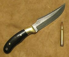 S.Drows Damascus Custom Bowie Knife 10in Hunter Camp