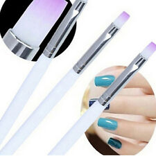 2x UV Gel Nail Brush Rhinestone Handle Nylon Hair  Brush Pro Nail Art Tools