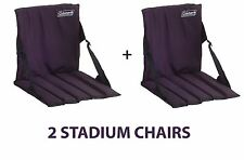 COLEMAN FOLDING STADIUM BLEACHER CAMPING SEAT CHAIR CUSHION PAIR