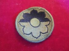 4 1989 US ARMY 9TH INFANTRY DIVISION SUBDUED SSI PATCHES MINT UNSEWN