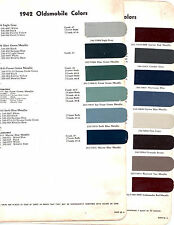 1942 OLDSMOBILE SERIES 60 SERIES 70 42 PAINT CHIPS DUPONT 8