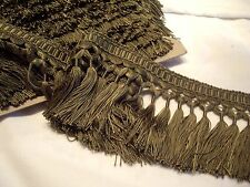 "RALPH LAUREN COURTESAN SAGE ""GAINSBOROUGH"" PASSEMENTERIE SILK TASSEL FRINGE TRIM"