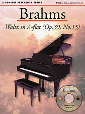 Brahms Waltz In A Flat Op.39, No.15 Learn to Play Piano Sheet Music Book