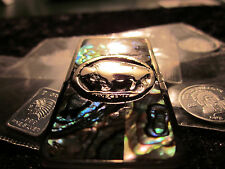 Abalone Inlaid Silver Buffalo Head Money Clip.