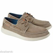 NEW Skechers Canvas Boat Shoe Men's Shoes 8.5 MED Brown 64644 Vintage Wash NIB
