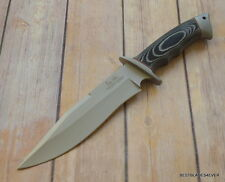 UNITED CUTLERY WESLEY HIBBEN BROTHERS KEEPER BOWIE KNIFE WITH LEATHER SHEATH