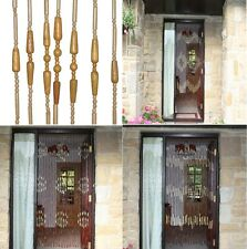 6FT WOODEN BAMBOO BEAD BEADED CURTAIN FLY INSECT SCREEN BLIND FOR DOOR WINDOW 89