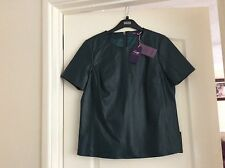 Women's twiggy leather top size uk 12 bnwt