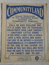 Vintage Songbook - Communityland 1927 *Rare* 12 songs for Community Singing