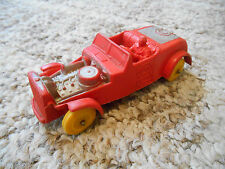 """Old Vintage Collectible Toy Auburn Rubber USA Race Car #8 Red 4"""" + Indy Nascar"""
