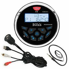 Boss MGR350B Bluetooth Marine Gauge Receiver, Enrock USBAUX Mount Cable, Antenna