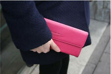 Womens Fashion Clutch Leather Long Handbag Lady's Bowknot Wallet Coin Purse uk