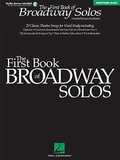 First Book of Broadway Solos: Baritone/Bass Edition with online audio by Boytim