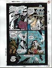 1993 Moon Knight 50 Marvel comic book color guide colorist production art page 9