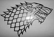 "El Lobo Sigal Game Of Thrones Gran Corte Vinilo coche / pared calcomanía sticker11 ""x 8"""