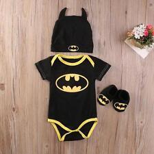 Baby Boy 3pc Batman Onesie, Slippers, Hat 24M