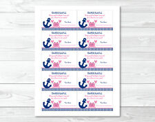 Pink Crab Nautical Under The Sea Printable Baby Shower Diaper Raffle Tickets
