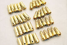 10Pair 3.5mm Gold-plated Bullet Banana Plug Connector RC Battery Plane Metal