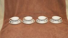 8 CORNING / CORELLE OLD TOWN BLUE - 4 CUPS AND 4 UNDERPLATES