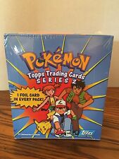 FACTORY SEALED box Pokemon Topps Trading Cards Series 2 - TV Animation Edition