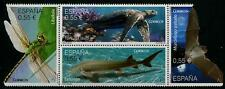 Protected Species block of 4 stamps mnh Spain 2015 Turtle Fish Bat Dragonfly