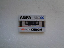 Vintage Audio cassette AGFA CRX 90 * Rare From 1985 * New