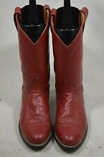 LAREDO WOMENS 7 M RED LEATHER ROPERS WESTERN COWBOY BOOTS