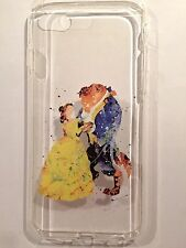 Disney Beauty And The Beast Clear Silicone Gel Case For iPhone 6/6s. BN. Xmas
