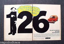 P553 - Advertising Pubblicità -1973- FIAT 126 , GIOVANISCE IL TRAFFICO E VOI