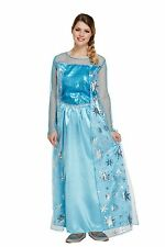 Ladies Adult Elsa Ice Queen Fancy Dress Costume Book Week