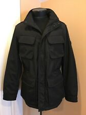 Brand New T-tech Tumi Hood In Collar Black Coat Jacket L Large Mens