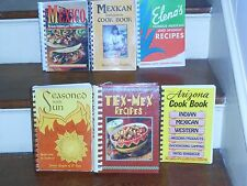 LOT OF 6 *ETHNIC *MEXICAN *SOUTHWESTERN *TEX-MEX COOK BOOKS *AUTHENTIC RECIPES
