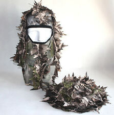 2pcs 3D Fast Dry Realtree Airsoft Jungle Leaf Net Ghillie Hat Cap
