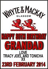 Personalised Bottle Label Whiskey Gift Birthday Chrismas Thank you Father's Day