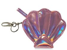 PRIMARK LADIES Pink BNWT Mermaid Shell Coin Purse Wallet Keyring Chain