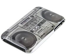 GUSCIO F iPhone 3gs 3g Case Custodia protettiva Hard Cover Cassetta Ghetto Blaster Radio