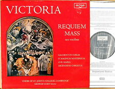 ARGO (Decca) UK de Victoria REQUIEM MASS Guest ST JOHN'S CHOIR ZRG-570 NM-