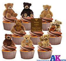 Party Pack - 36 Osos De Peluche Comestibles Cup Cake Toppers Cumpleaños Bautizo Baby
