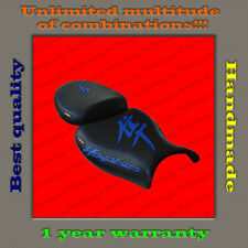 Custom Design Seat Cover Suzuki Hayabusa 08+ black+blue 001