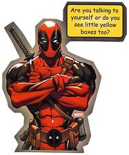 "DEADPOOL ""Are You Talking To Yourself?"" STICKER New Marvel Comics Licensed Decal"