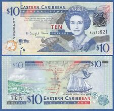 East Caribbean States 10 Dollars P 52 UNC ND (2012) Low Shipping! Combine FREE!