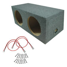 Car Audio Dual 15 Inch Sub Box Rear Fire Subwoofer Sealed Speaker Mdf Enclosure