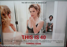 Cinema Poster: THIS IS 40 2013 (Advance Quad) Paul Rudd Leslie Mann Jason Segel