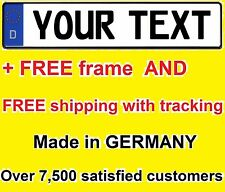 Custom GERMAN EURO license plate Audi BMW Porsche Volkswagen Mercedes Volvo tag