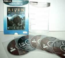 RIVEN THE SEQUEL TO MYST USATO BUONO STATO PC CDROM VERSIONE UK GD1 39512