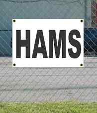 2x3 HAMS Black & White Banner Sign NEW Discount Size & Price FREE SHIP