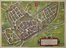 Wesel - Wesalia in Ducatu Clivensi - Braun und Hogenberg - 1580 - Altkoloriert