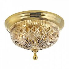 "NEW Waterford Crystal Beaumont 12"" Polished Brass Ceiling Fixture -FIRST QUALITY"