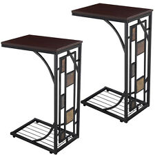 2PCS Coffee Tray Side Sofa Table Ottoman Couch Console Stand End TV Lap Snack